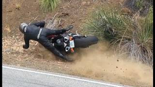 9. Foot Peg Catches then Crash - 2009 Yamaha R1