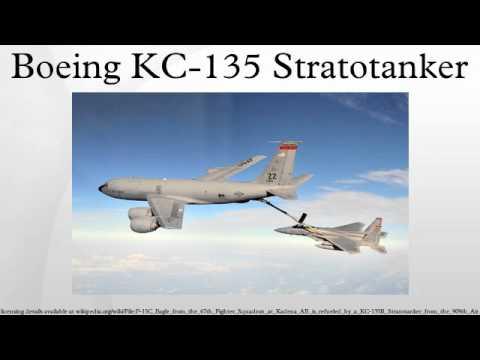 The Boeing KC-135 Stratotanker...