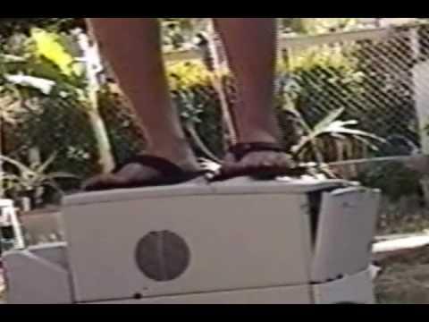 Smash my GIANT HP laserjet 4000T printer