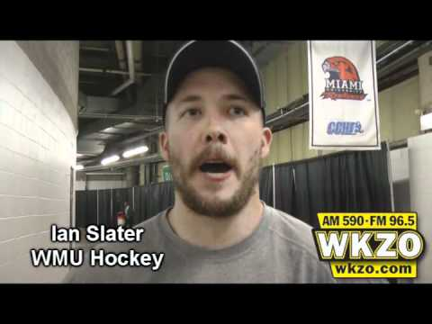 Ian Slater speaks with WKZO at Joe Louis Arena following the CCHA Championship win over Michigan on March 17th, 2012.