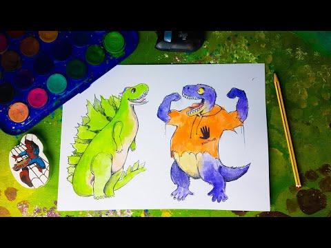 Come disegnare Arex e Vastatore in versione Godzilla e King Kong
