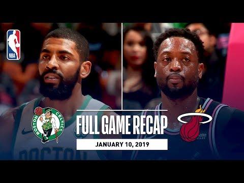 Video: Full Game Recap: Celtics vs Heat   Vintage Wade On Display In Miami