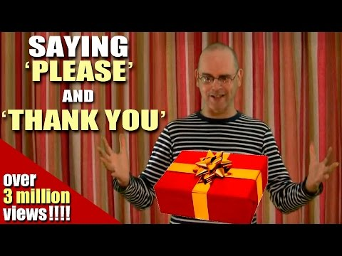 Learning English-Lesson Three (Please & Thank You)