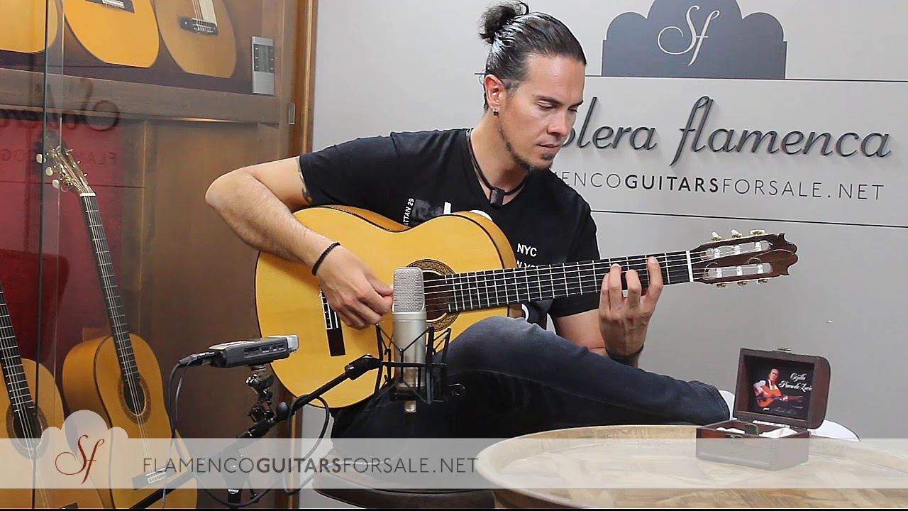 Francisco Sánchez 2017 flamenco guitar for sale played by Alberto Fernández