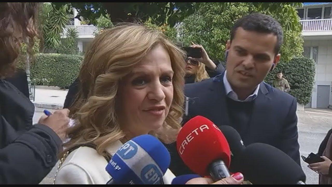 Μερόπη Τζούφη: Συγκινήθηκα, δεν το περίμενα δήλωσε προσερχόμενη στο Προεδρικό Μέγαρο