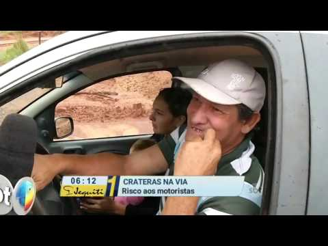 MS: Crateras no asfalto colocam motoristas em risco em Juti