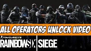 Nonton Rainbow Six Siege All Operators Unlock Video Cinematic Tom Clancy SAS, FBI SWAT, GIGN, GSG9 Film Subtitle Indonesia Streaming Movie Download