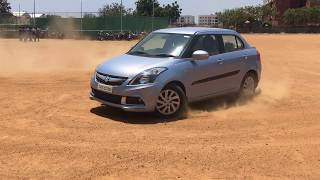 [HD] MODIFIED CAR AND STOCK DZIRE SHOW OFF AT HINDUSTAN UNIVERSITY