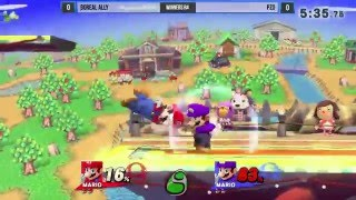 Ally up-smashes Pz0 5 times in a row