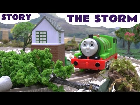 thomas - Sodor has a bad storm. Trees are uprooted and the power goes out. Percy surveys the damage. The search and rescue team are called to help restore power and c...