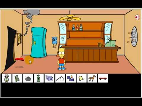 bart simpson saw game solucion. en español