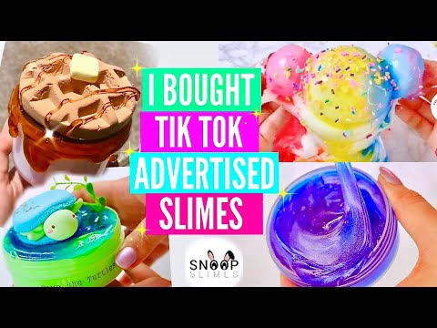 *Tik Tok Recommended* I Bought The First 5 Slimes Tik Tok Recommended Before It's Banned Review