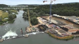 Chantier des barrages sur la Meuse
