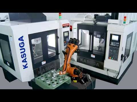 Máy phay CNC với robot công nghiệp / CNC milling machine with Robot