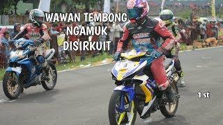 Video WAWAN TEMBONG NGAMUK DISIRKUIT ROAD RACE ! MX KING 150 TU SYAKIRA MOTOR (1st) MP3, 3GP, MP4, WEBM, AVI, FLV Februari 2019