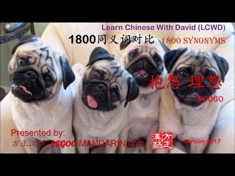 1800 Synonyms - 0060 抱怨, 埋怨 complain, grumble, blame