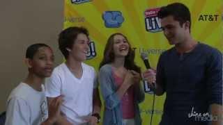 """Lab Rats"" Cast Interviews Each Other - Billy Unger Spencer Boldman Kelli Berglund TJ Williams"