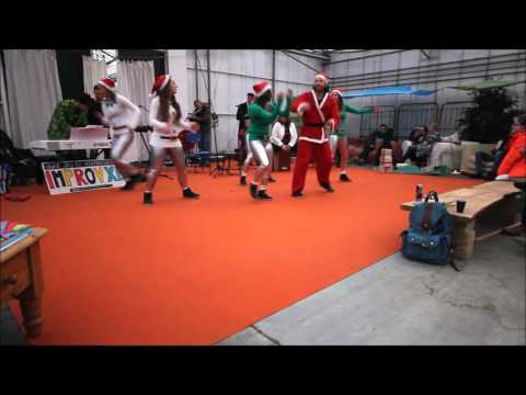 Christmas Performance Music Fail! Ducktape Urban Dance Crew Vs. ImprovXL @ Kerst In De Kas
