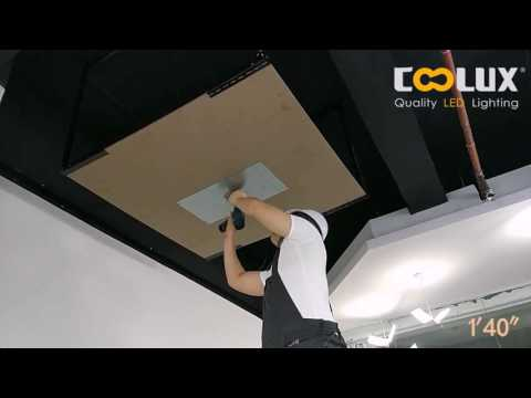 COOXLUX DIPL built-in driver led panel installation