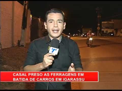 [RONDA GERAL] Casal fica preso às ferragens durante acidente de trânsito em Igarassu