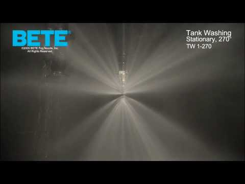 TW 1-270 - Stationary, 270° Tank Washing CIP Spray Pattern Video
