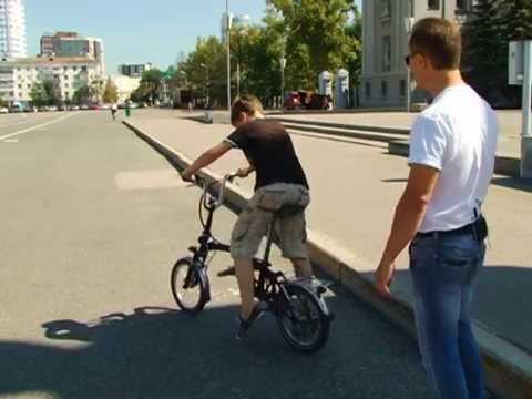 Самарец усовершенствовал складной велосипед