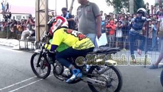 Drag race slawi 201M kecepatan ninja 150  tanpa batas