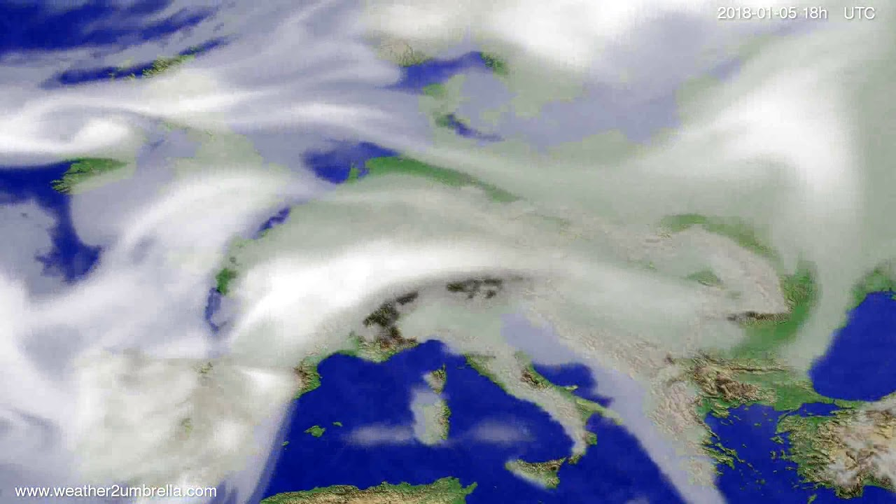 Cloud forecast Europe 2018-01-02