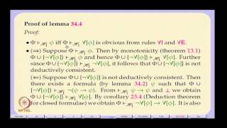 Mod-01 Lec-34 Completeness Of The Hilbert System