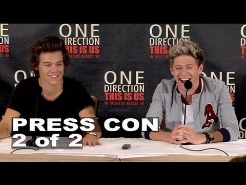 One Direction: This is Us: Harry Styles & Niall Horan Press Conference 2 of 2