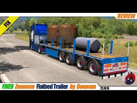 Fixed Flatbed Trailer by Zeeuwse Trucker