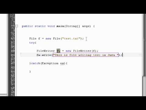 Java Tutorial 16:  Writing in Files in Java