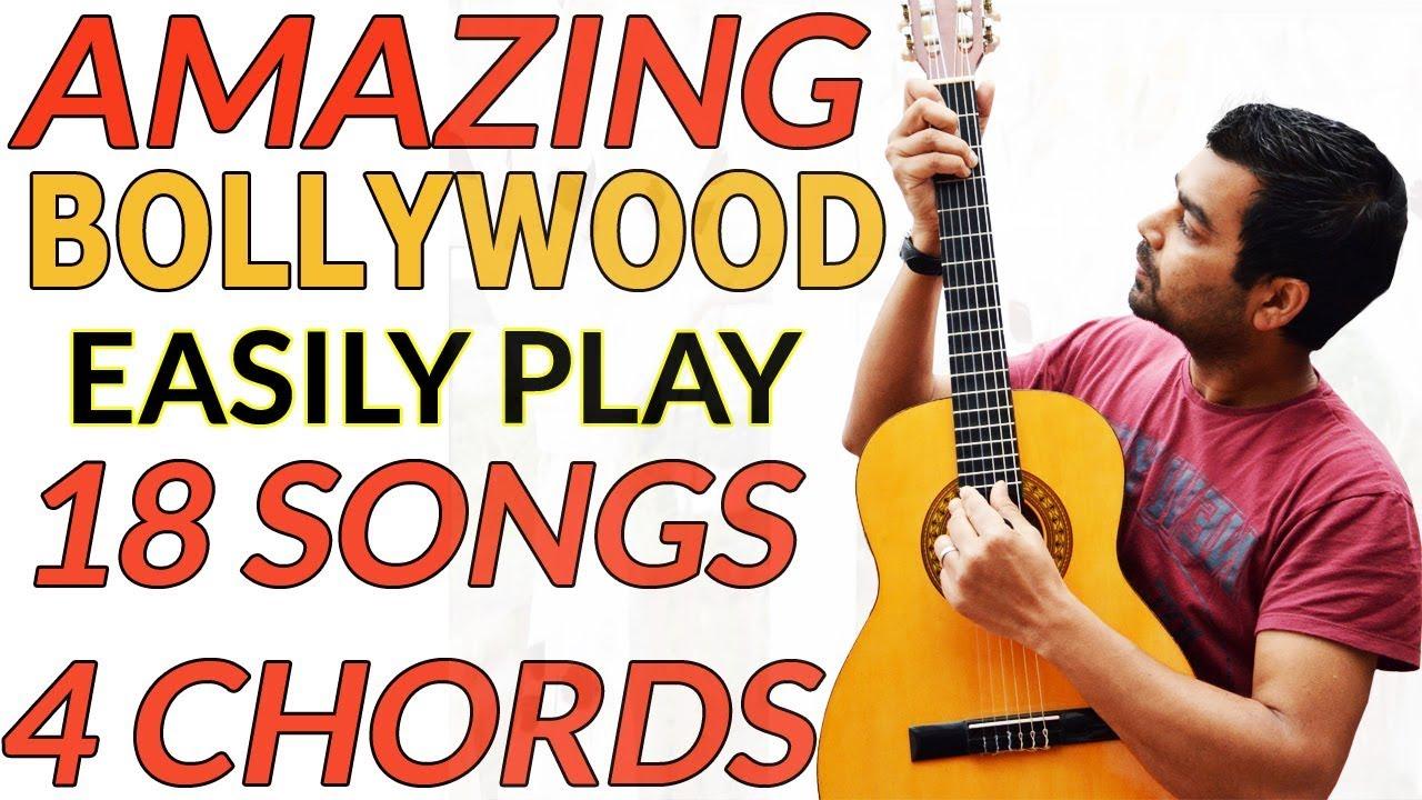 WOW 18 Songs 4 Chords Simple Guitar Technique Bollywood Hindi Lesson 11 हिंदी में गिटार सीखिए Vineet