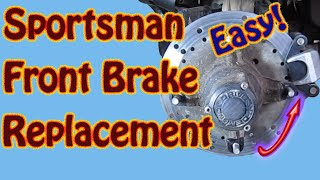 3. How to Replace Front Brake Pads on a 2003 Polaris Sportsman 500 ATV - DIY