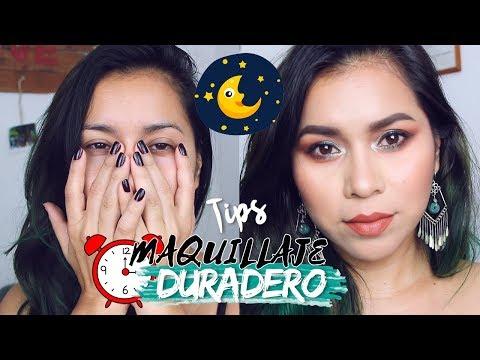 Videos de uñas - Tips para que tu MAQUILLAJE DURE TODA LA NOCHE!! (o todo el día)  Karla Burelo :)