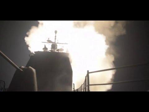 Raketen gegen Syrien: Pentagon zeigt Bilder die Bil ...