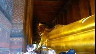 Wat Pho Temple Reclining Buddha Phil In Bangkok