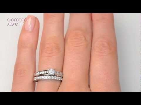 SDN3227 - Steeple Diamond 0.71ct And Platinum 2 Ring Bridal Set