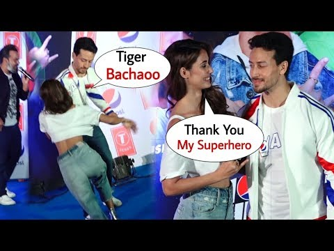 Tiger Shroff Saves Disha Patani From Falling On Stage At Launch Of Pepsi New Anthem | Best Moments
