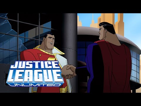 Superman and Shazam meet for the first time | Justice League Unlimited