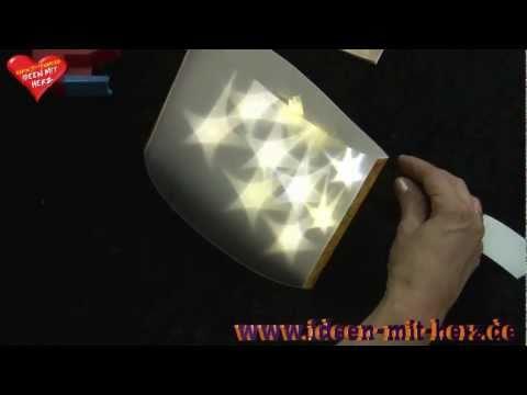 Ideen mit Herz - Stehleuchte aus Lichteffekt-Folie und LED Draht-Lichterkette
