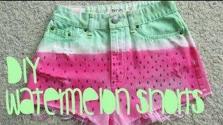 DIY: Watermelon Shorts - YouTube