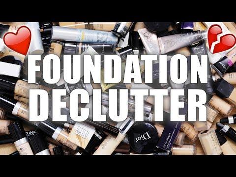 100+ FOUNDATIONS   Makeup Declutter