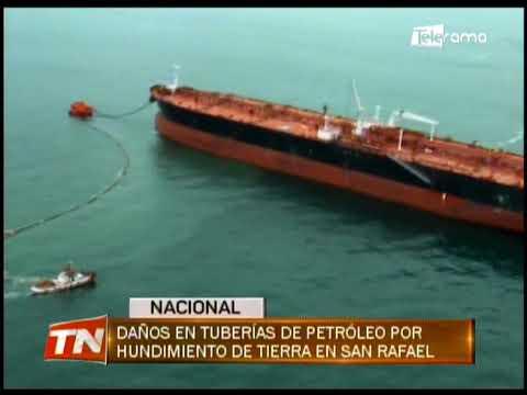 Daños en tuberías de petróleo por hundimiento de tierra en San Rafael