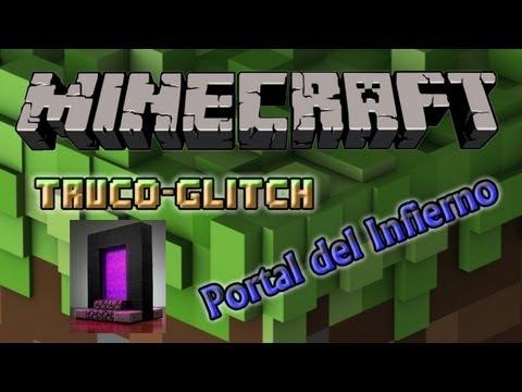 Minecraft Xbox360 - Truco/Glitch Descubrir desde el Inframundo, cuevas naturales.