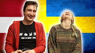 En svensk pige forsøger at tale dansk, mens en dansk fyr forsøger at tale svensk. Filmet på Malmö Youtube Gathering 2014 ...