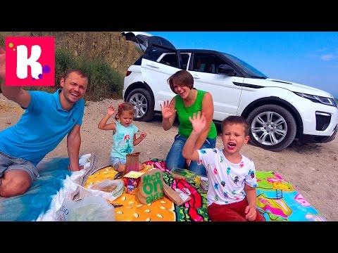 Челлендж Пикник на машинах Мальчики против Девочек Едем на море - DomaVideo.Ru