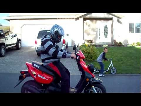 Yamaha Zuma BWS 50 Ride-by and Rev