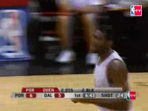 Greg Oden's monster dunk