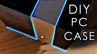 In this video we'll be making a sweet-looking PC case from scratch, using cheap materials & basic hand tools! Also available in kit form! http://diyperks.com/product/custom_pc_case_kit/?currency=USDHave access to a CNC already? You can purchase the source SVG files here:       https://sellfy.com/p/4GO3/     (free PDF template for hand tools also available)Many thanks to Reichelt for sending me the components used in this build. Check out their website at: https://www.reichelt.co.uk They have some great deals, so are definitely worth checking out (esp. their prices on computer components!).Here's a link to that awesome glowing EL Wire: http://amzn.to/2mJKJDQAnd the awesome FLIR ONE thermal camera: http://amzn.to/2nThQFrThanks to Overclockers UK for the sweet Super Flower PSU: https://www.overclockers.co.uk/super-flower-golden-silent-500w-fanless-80-plus-platinum-power-supply-black-ca-000-sf.htmlHere are the templates that you'll need to cut out the panels, if you don't want to use the kit version: http://bit.ly/2nB2cm0Components used in the final build:Motherboard: http://amzn.to/2nT1zQPProcessor: http://amzn.to/2nTc46zRAM: http://amzn.to/2nb57AFM.2 SSD: http://amzn.to/2mJZpT6Processor cooler: http://amzn.to/2mFZoieGraphics card: http://amzn.to/2nAO0JzFanless PSU: http://amzn.to/2mJSOIp